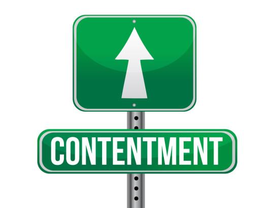 contentment road sign illustration design